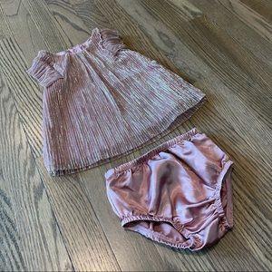 Baby Pink Shiny Dress